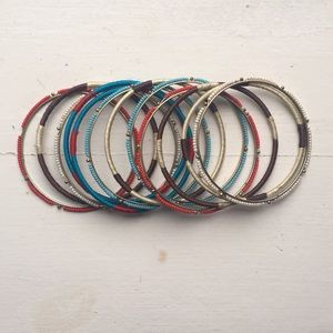 Boho Chic Bangles (Set of 12 Bracelets)